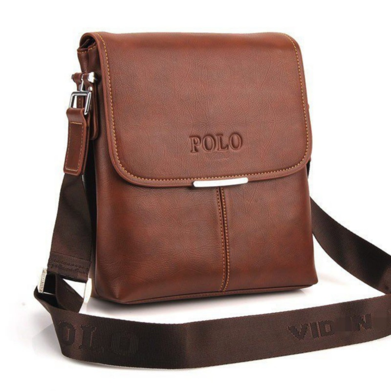 Hot selling high quality authentic polo men s leather shoulder bag